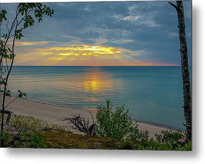 Lake Superior Sunset Metal Print