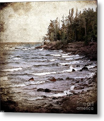 Lake Superior Waves Metal Print by Phil Perkins