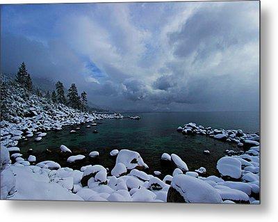 Lake Tahoe Snow Day Metal Print