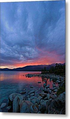 Lake Tahoe Sunset Portrait 2 Metal Print