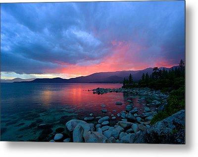 Lake Tahoe Sunset Metal Print