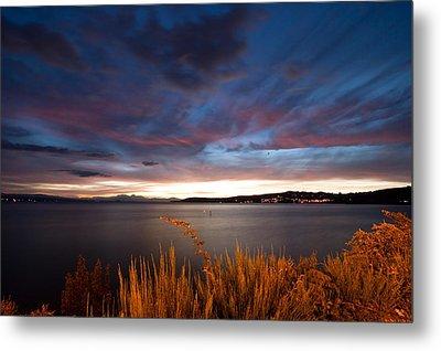 Lake Taupo Sunset Metal Print by Marc Garrido