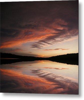 Lake Thunderbird Sunset Metal Print by Rick Friedle