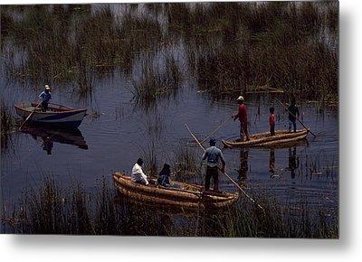 Lake Titicaca Reed Boats Metal Print