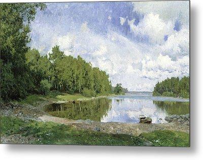 Lake View At Engelsberg, Vastmanland, 1893 Metal Print by Olof Per Ulrik Arborelius