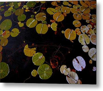 Metal Print featuring the painting Lake Washington Lilypad 8 by Thu Nguyen