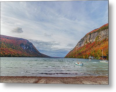 Lake Willoughby Blustery Fall Day Metal Print