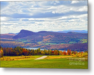 Lake Willoughby In Autumn Metal Print by Catherine Sherman
