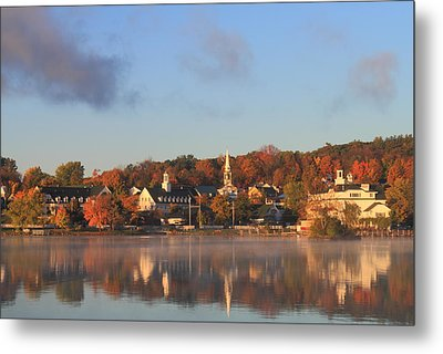 Lake Winnipesaukee Meredith Autumn Morning Metal Print