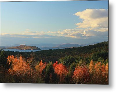 Lake Winnipesaukee Overlook In Autumn Metal Print