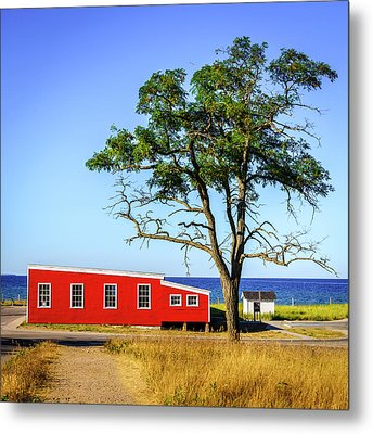 Metal Print featuring the photograph Lakefront In Glen Arbor by Alexey Stiop