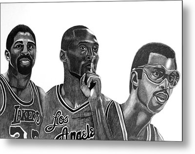 Laker Greats Metal Print by Keeyonardo