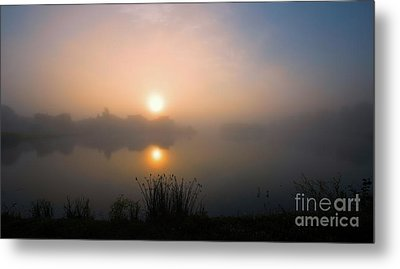 Lakeridge Fog Metal Print