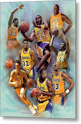 Lakers Legends Metal Print by Blackwater Studio