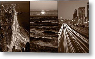Lakeshore Chicago Metal Print by Steve Gadomski