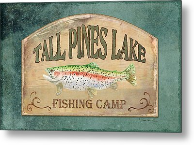Lakeside Lodge - Fishing Camp Metal Print by Audrey Jeanne Roberts