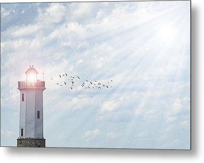 Lakeside Park Lighthouse Metal Print