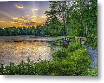 Lakeside Sunset  Bushkill Metal Print