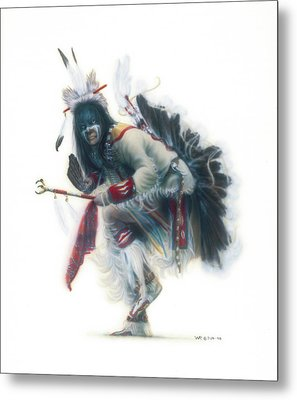 Lakota Dancer Metal Print