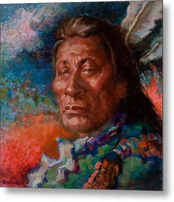Lakota Man Metal Print