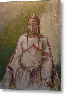 Lakota Woman Metal Print