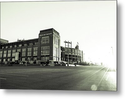 Metal Print featuring the photograph Lambeau Field Minimalistic by Joel Witmeyer