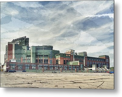 Metal Print featuring the photograph Lambeau Field Painterly Edition by Joel Witmeyer