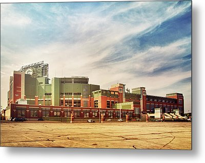 Metal Print featuring the photograph Lambeau Field Retro Feel by Joel Witmeyer