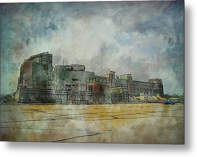 Metal Print featuring the photograph Lambeau Field Watercolor by Joel Witmeyer