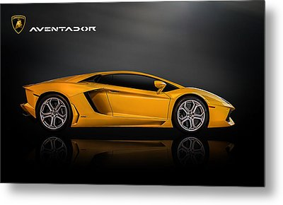 Lamborghini Aventador Metal Print by Douglas Pittman