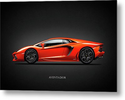 Lamborghini Aventador Metal Print by Mark Rogan