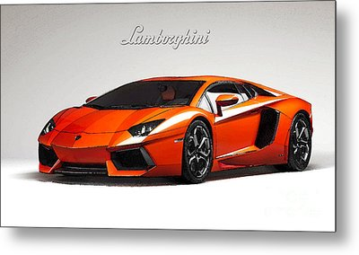Lamborghini Aventador Metal Print by Mohamed Elkhamisy