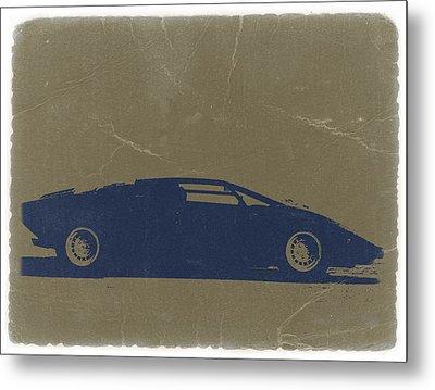 Lamborghini Countach Metal Print by Naxart Studio
