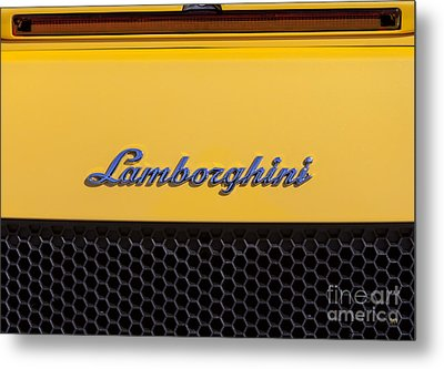 Lamborghini Metal Print by David Millenheft
