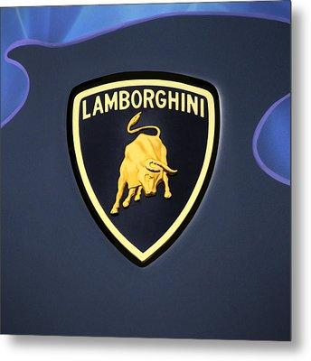 Lamborghini Emblem Metal Print by Mike McGlothlen