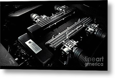 Lamborghini Engine Metal Print