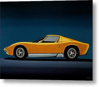Lamborghini Miura 1966 Painting Metal Print by Paul Meijering