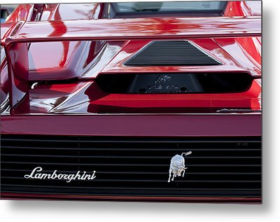 Lamborghini Rear View Metal Print by Jill Reger