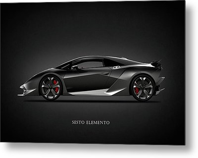 Lamborghini Sesto Elemento Metal Print by Mark Rogan