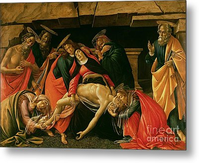 Lamentation Of Christ Metal Print by Sandro Botticelli