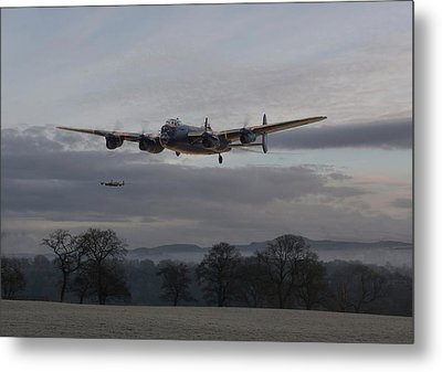 Lancaster - He Aint Heavy He's My Brother' Metal Print by Pat Speirs