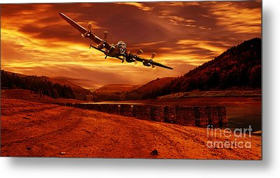 Lancaster Over Ouzelden Metal Print by Nigel Hatton