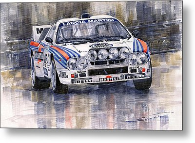 Lancia 037 Martini Rally 1983 Metal Print by Yuriy  Shevchuk