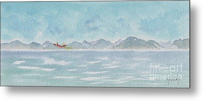 Metal Print featuring the painting Land Ahoy Cruising By Cuba by Pat Katz
