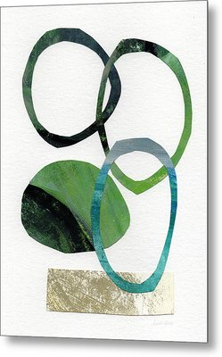 Land And Sea- Abstract Art Metal Print by Linda Woods