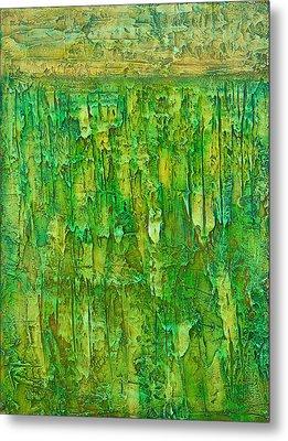 Land In Green Metal Print by Habib Ayat