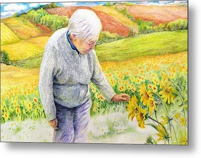 Metal Print featuring the painting Land  Life And Grace by Ping Yan
