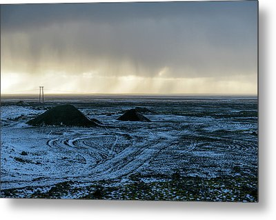 Metal Print featuring the photograph land of Lava by Dubi Roman