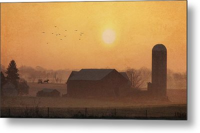 Land Of The Amish Metal Print by Lori Deiter