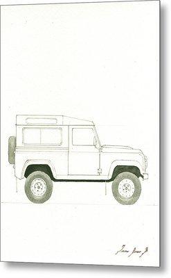 Land Rover Defender Metal Print by Juan Bosco